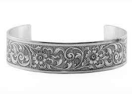 sterling silver cuff bangle bracelet images Victorian style vintage floral cuff bangle bracelet in sterling jpg