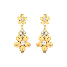 gold earrings online buy fiona 4 1 gms gold dangle earrings online