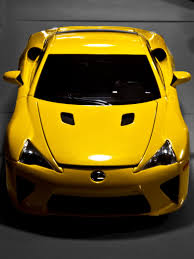 lexus yellow autoart lexus lfa pearl yellow in parking garage diecast