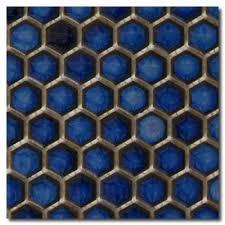 beltile cobalt blue hexagon mosaic 3 4 3 4 inch beltile tile