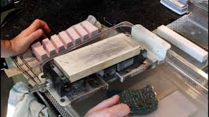 sharpening japanese kitchen knives flattening sharpening stones japanese knife imports youtube