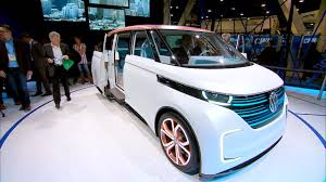 electric volkswagen van volkswagen u0027s electric budd e concept van shows off gesture control