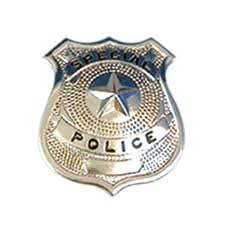 silver police badge police badge for fancy dress accessorie or