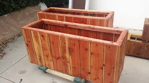 Redwood Planter Boxes by Privacy Wall Redwood Custom Planters In Redondo Beach Ca Curtis
