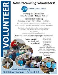 Volunteer Brochure Template by Alaska Sealife Center Now Recruiting Volunteers Seward City News