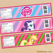 My Little Pony Gift Wrapping Paper - click here to download free printable my little pony water bottle
