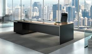 Office Table Design Stylish Larry Office Table In Wood U0026 Leather Boss U0027s Cabin