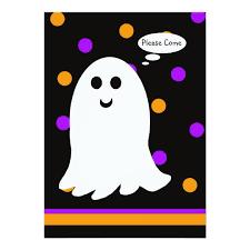 the ghost of halloween birthday party invitation zazzle com