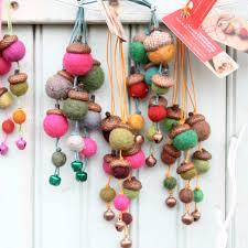 acorn felt ornaments set worthygoods
