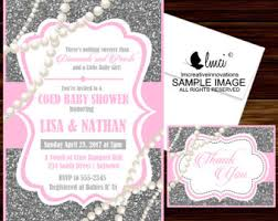 diamonds and pearls baby shower pearls baby shower etsy