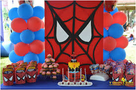 Spiderman Decoration Themed Birthday Spiderman Decorations V Decors And Events