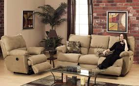 cozy living room design ideas with brown comfy modern sofa and