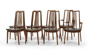 set of eight danish modern anders jensen holstebro denmark teak