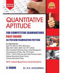 quantitative aptitude for competitive examinations paperback