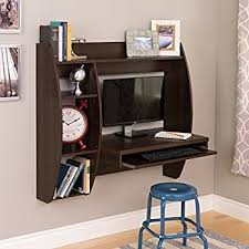 Designer Floating Desk Amazon Com Prepac Wall Mounted Floating Desk With Storage In