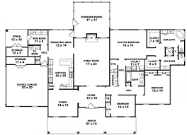 5 bedroom house plans 1 story stunning bedroom house plans one level pictures best split six