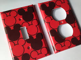 mickey mouse light switch plate cover mickey bathroom decor