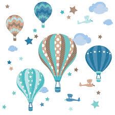 heißluftballon kinderzimmer kinderzimmer wandsticker heißluftballons mint taupe 33 teilig