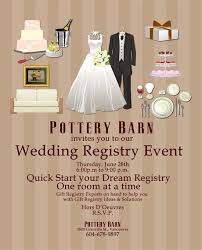 wedding registry site wedding registry event pottery barn vancouver countdown events