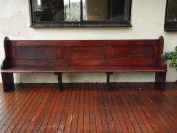 Church Pew Style Bench Antique Vintage Solid Wood Church Pew Bench Seat Extra Long