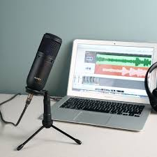 Computer Desk Microphone Aukey Usb Condenser Microphone For Recording Cardioid Microphone
