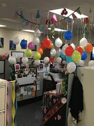 cubicle birthday decoration work life events and celebrations