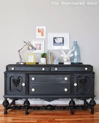 furniture reveal black milk paint buffet the weathered door