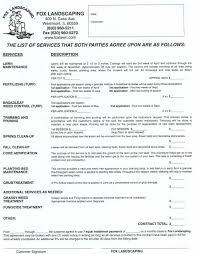 Lawn Care Estimate Template by Lawn Care Contract Sample Thebridgesummit Co