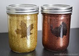 Jar Thanksgiving Glittered Thanksgiving Jars Artsy Fartsy