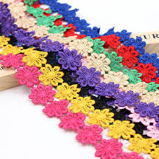 wide lace ribbon 1yard 25mm wide lace petal braided lace ribbon for wedding party