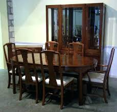 ethan allen dining table and chairs used ethan allen dining room set old tavern style dining room trestle