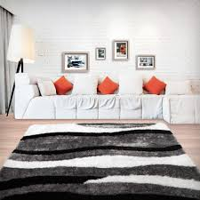 stylish super soft shaggy rug in wave pattern u2013 oliandola