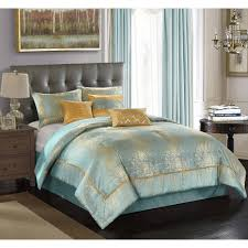 better homes and garden duo metallic 7 piece bedding comforter set