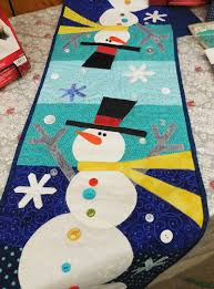 christmas table runner patterns houses google search things to