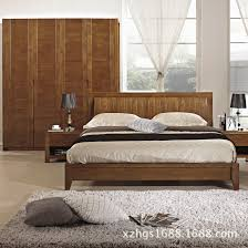 Solid Wood Bedroom Furniture Solid Wood Furniture 18 Meters Queen Retro Fashion Bedroom