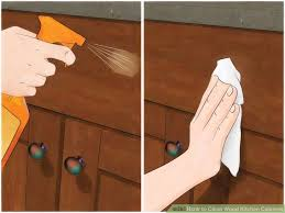 How To Remove Greasy Film From Kitchen Cabinets How To Clean Sticky Wood Kitchen Cabinets Surprising Design Ideas
