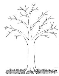 Stencil Albero by Mormon Share Tree Bare Trees Originals And Craft