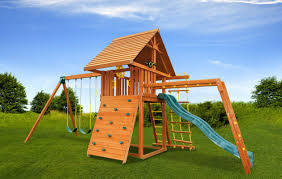 dream 5 cedar backyard swing set eastern jungle gym