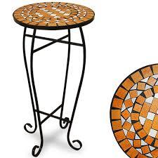 Garden Bistro Table Garden Mosaic Side Coffee Table 34centimeter Flower Plant Stand