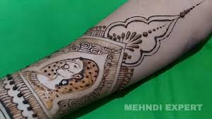 ladaire design mehndi or henna design with drawing in depth