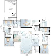 best 25 house plans with pool ideas on floor plan of - Luxury House Plans With Pools