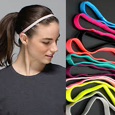 thin headbands 2 pcs women colored sweatbands football hair bands anti