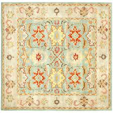 Safavieh Rug by Shop Safavieh Heritage Peshwar Light Blue Ivory Square Indoor