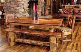 bench perfect rustic dining table with bench seats satisfactory