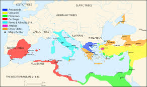 mediterranean map map of the mediterranean 218 bce illustration ancient history