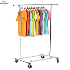 Decorative Metal Garment Floor Rack by Aliexpress Com Buy Homdox Adjustable Rolling Steel Clothes