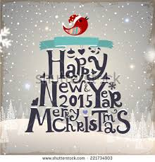 happy new years posters merry christmas happy new year 2015 stock vector 221733883