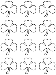 4 leaf clover template shamrock template printable shamrock card template printable