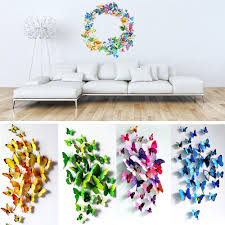 12 24 pcs 3d butterfly sticker art design decal wall stickers home 12 24 pcs 3d butterfly sticker art design decal wall stickers home decor room