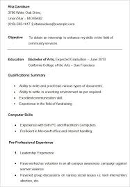 college resume exle resume exle college exles of resumes